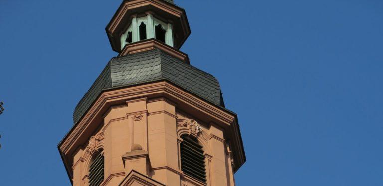 Würzburg, Turmspitze von St. Peter und Paul